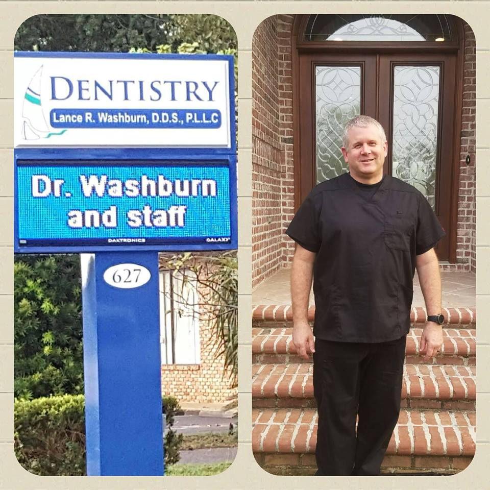 Dr. Lance Washburn outside of office